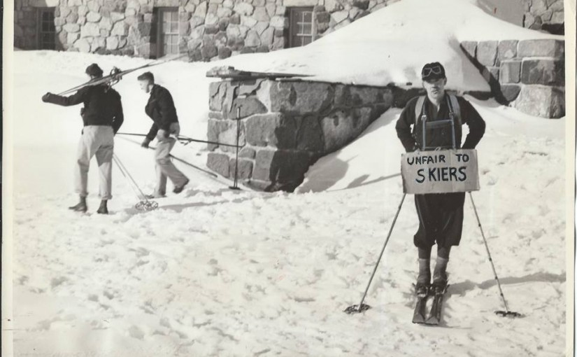 Protest at Timberline Lodge