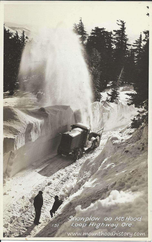 Mt hood loop highway snowplow