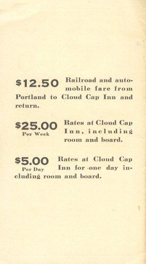 Cloud Cap Inn Flyer