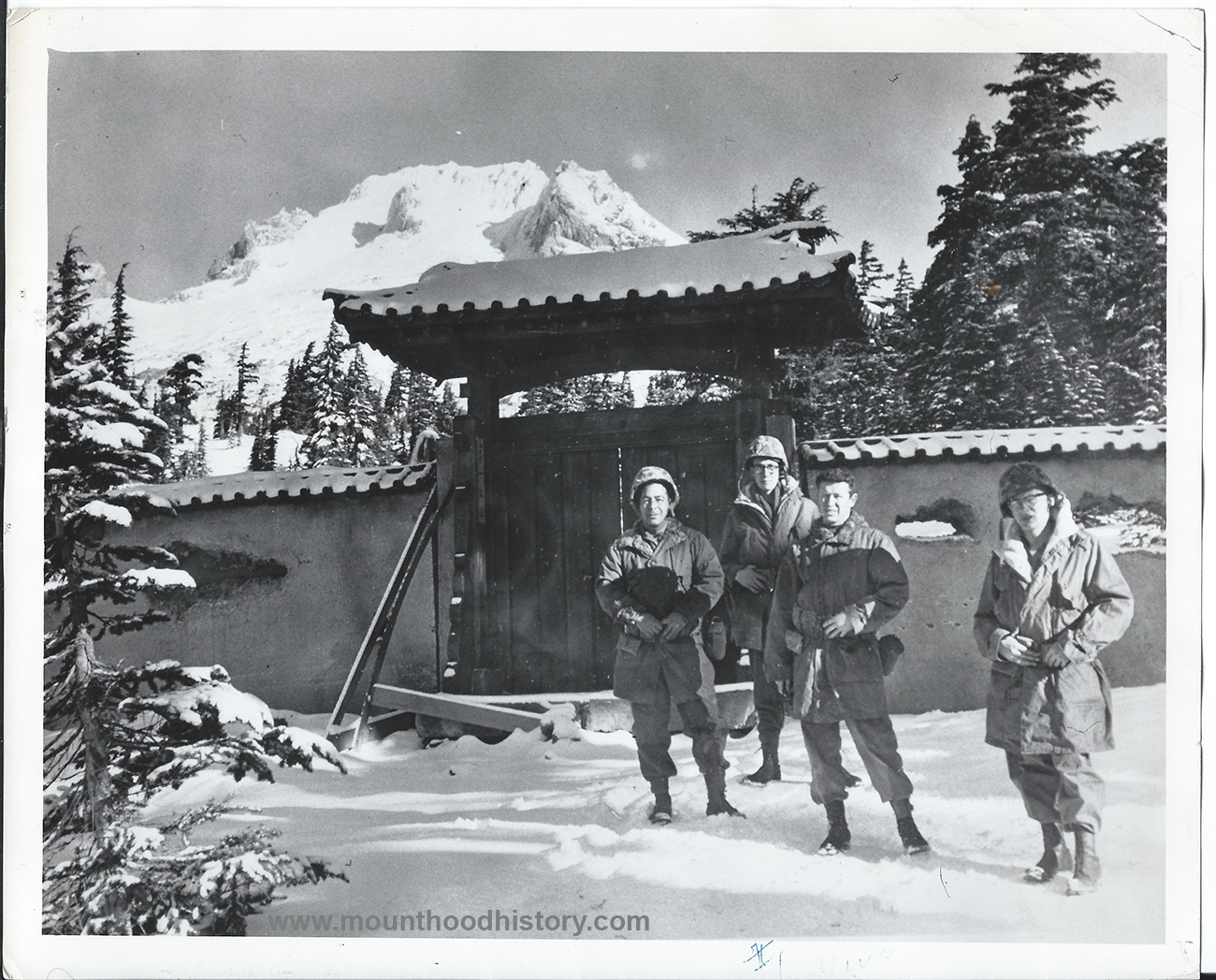"""""""All The Young Men"""" movie extras on Mt Hood"""