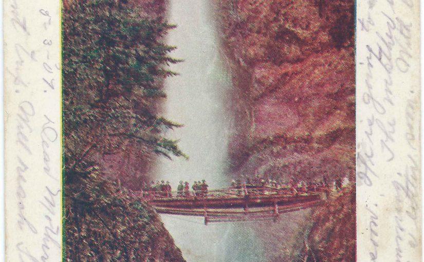Old ORNCo Wooden Bridge over Multnomah Falls Creek