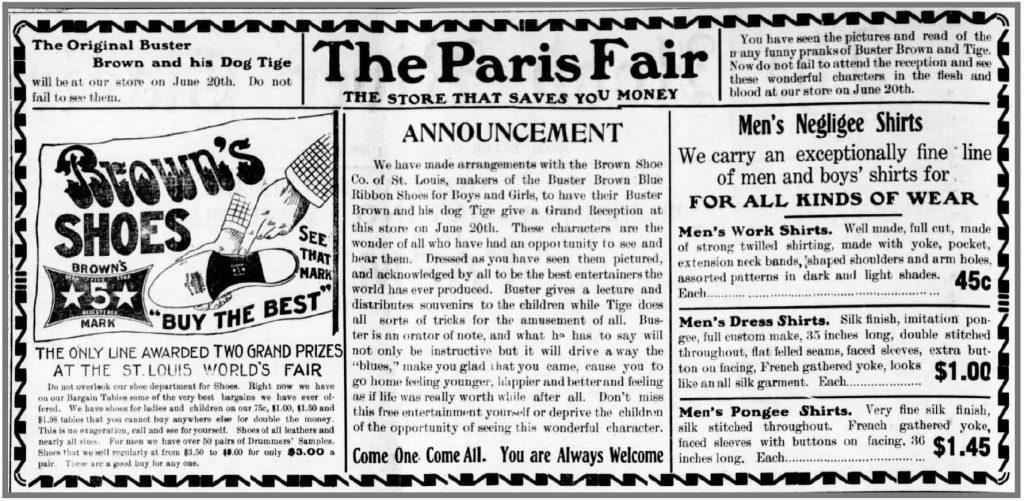 Buster Brown at Paris Fair in Hood River