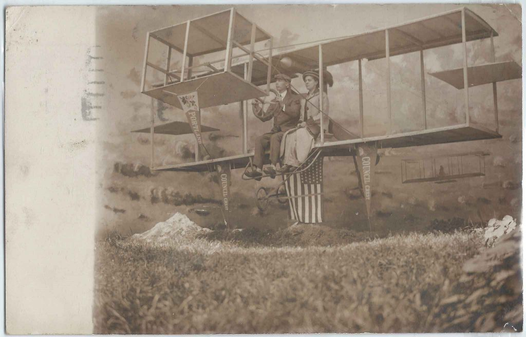 Mt Hood Antique Airplane Photo Backdrop
