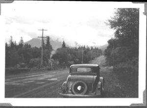 Mount Hood Highway at Alder Creek 1939